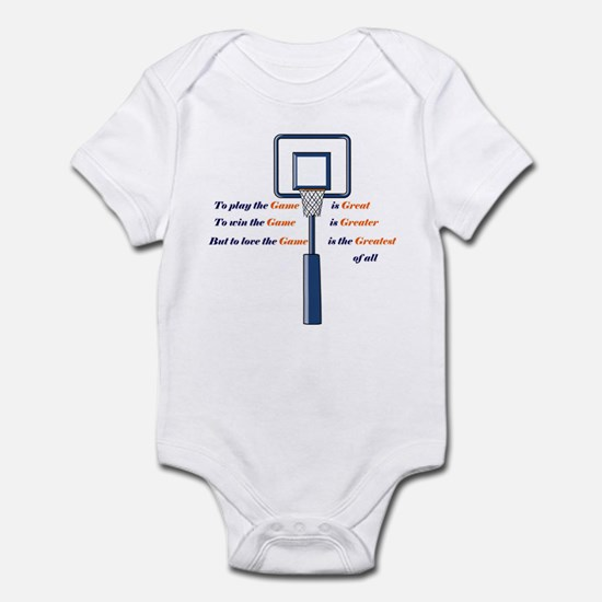 Basketball Love the Game Infant Bodysuit