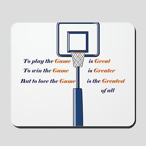 Basketball Love the Game Mousepad