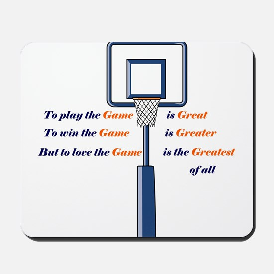 Basketball Love the Game Mousepad