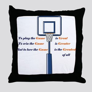 Basketball Love the Game Throw Pillow