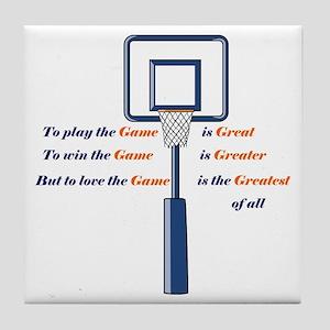 Basketball Love the Game Tile Coaster