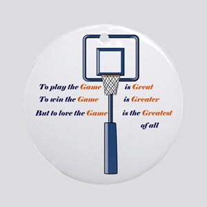 Basketball Love the Game Ornament (Round)