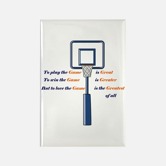 Basketball Love the Game Rectangle Magnet
