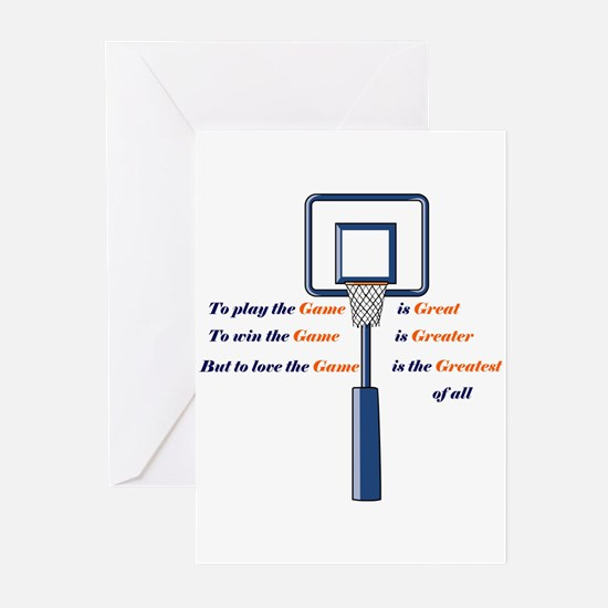 Basketball Love the Game Greeting Cards (Package o