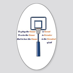Basketball Love the Game Oval Sticker