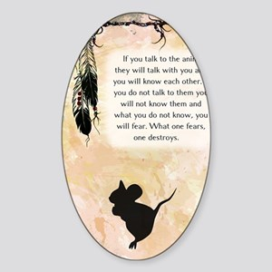 nativeamerican_journal_mouse Sticker (Oval)
