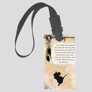 nativeamerican_journal_mouse Large Luggage Tag