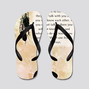 nativeamerican_journal_beaver Flip Flops