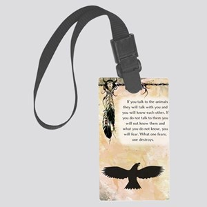 nativeamerican_journal_eagle Large Luggage Tag