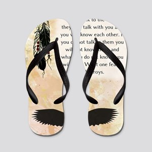 nativeamerican_journal_eagle Flip Flops
