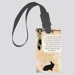 nativeamerican_journal_rabbit Large Luggage Tag