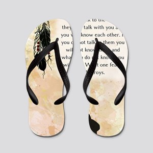 nativeamerican_journal_rabbit Flip Flops