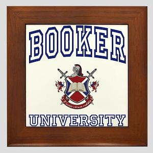 BOOKER University Framed Tile