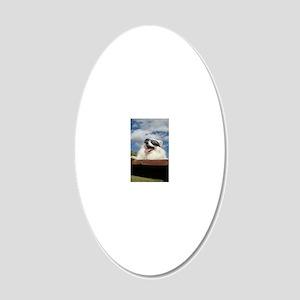 American Eskimo Dog 20x12 Oval Wall Decal
