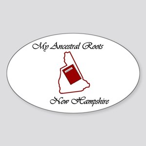 Ancestral Roots NH Oval Sticker