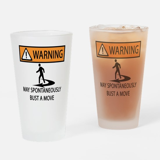 BUST A MOVE Drinking Glass
