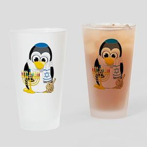 Hanukkah-Penguin-Scarf Drinking Glass