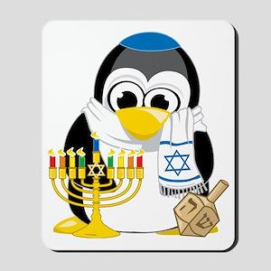 Hanukkah-Penguin-Scarf Mousepad