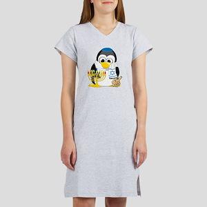 Hanukkah-Penguin-Scarf Women's Nightshirt