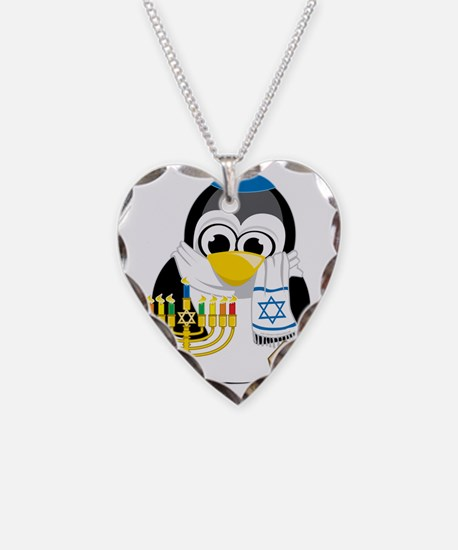 Hanukkah-Penguin-Scarf Necklace