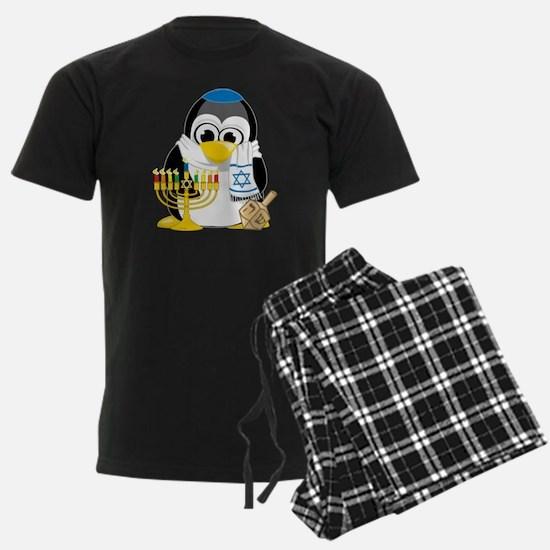 Hanukkah-Penguin-Scarf Pajamas