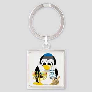 Hanukkah-Penguin-Scarf Square Keychain