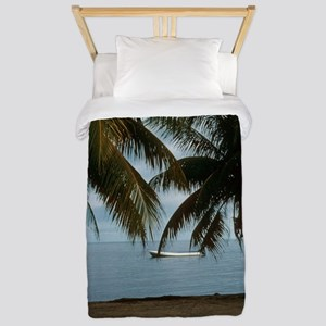 2-Pelican Beach Belize200 writing16x20 Twin Duvet