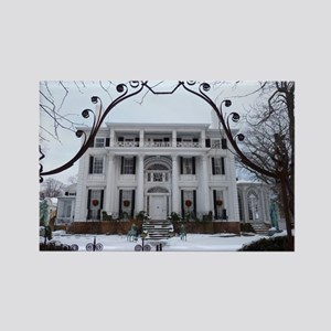 Linden Place in winter Rectangle Magnet