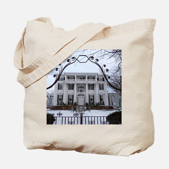 Linden Place in winter Tote Bag