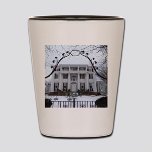 Linden Place in winter Shot Glass