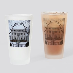 Linden Place in winter Drinking Glass