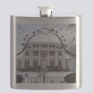 Linden Place in winter Flask