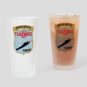 tullibee patch transparent Drinking Glass