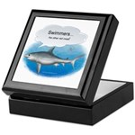 Swimmers- other red m Keepsake Box