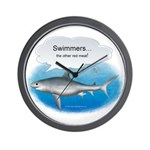 Swimmers- other red m Wall Clock