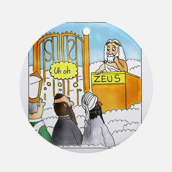 Zeus1 Round Ornament