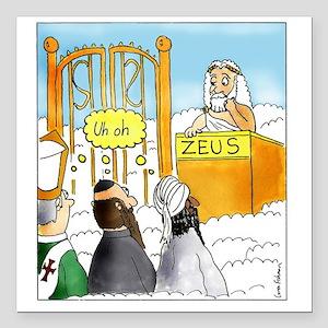 """Zeus1 Square Car Magnet 3"""" x 3"""""""