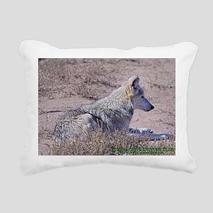 mexican-wolf Rectangular Canvas Pillow