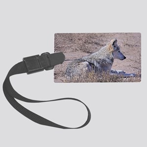 mexican-wolf Large Luggage Tag