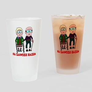 Na Zawsze Razem Shirt Drinking Glass