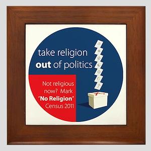 Census 2011 No Religion Framed Tile