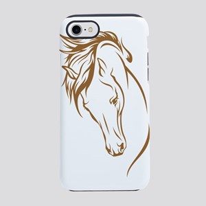 Line Art Horse Head iPhone 7 Tough Case