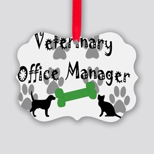 Vet Office Manager Picture Ornament