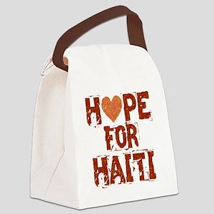 HOPE FOR HAITI burnt orange Canvas Lunch Bag