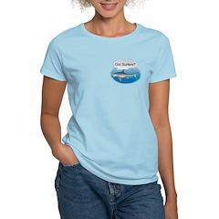 Shark- got surfers? Women's Pink T-Shirt