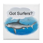 Shark- got surfers? Tile Coaster