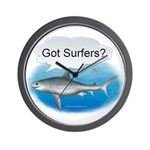 Shark- got surfers? Wall Clock