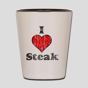 I heart steak vintage Shot Glass