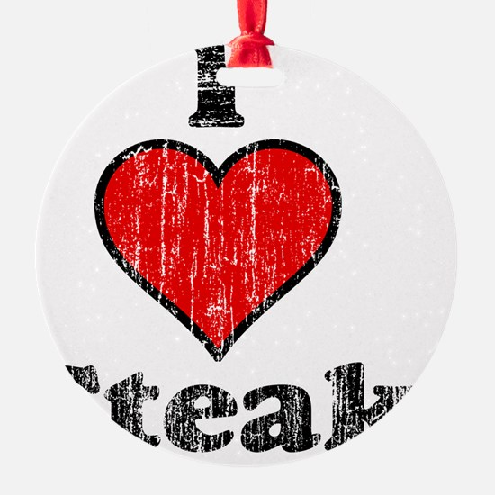 I heart steak vintage Ornament
