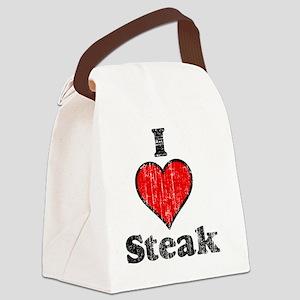 I heart steak vintage Canvas Lunch Bag